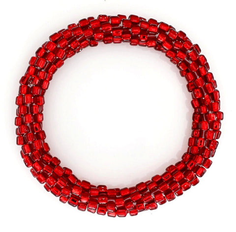 Lily and Laura July Ruby Red Mega Bead