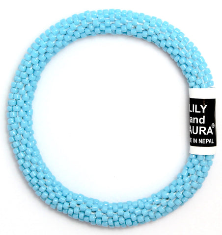 Lily and Laura Bright Sky Blue Solid
