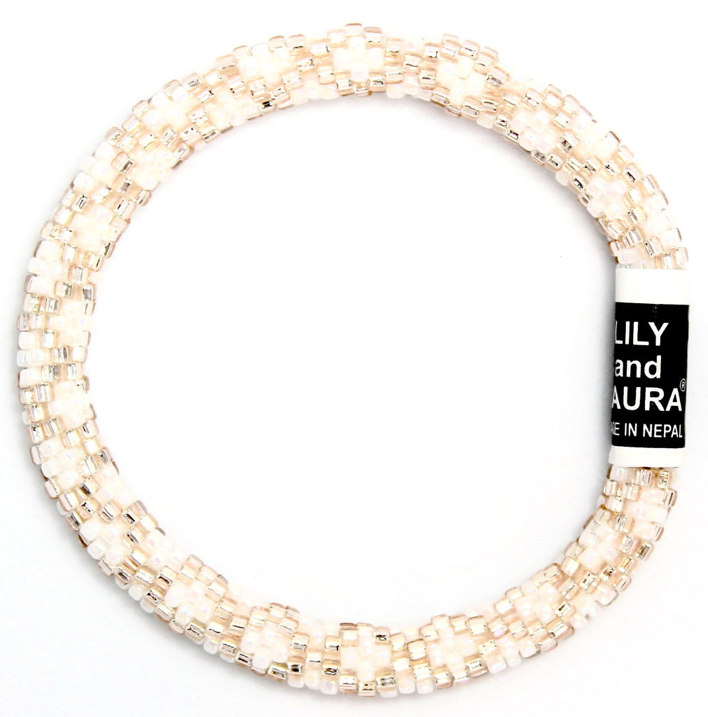 Lily and Laura Rose Gold Chain Link On Pearls