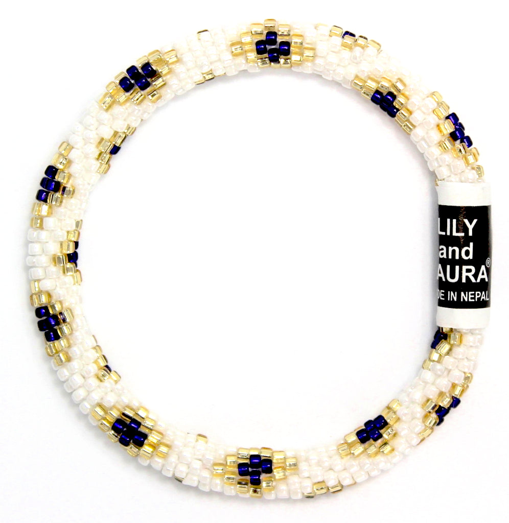 Navy and Gold Little Diamond Gem