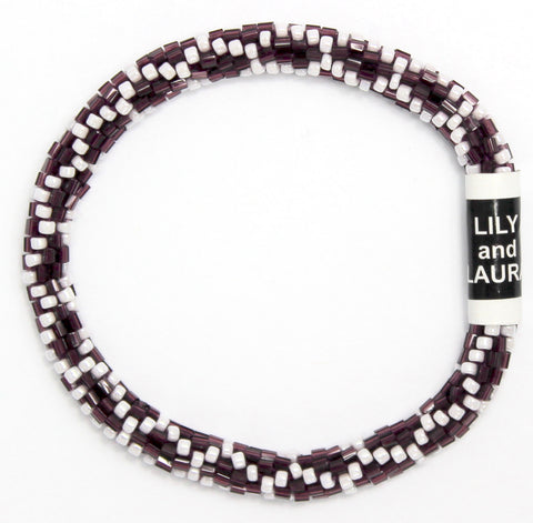 Maroon and White Chain Link