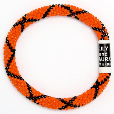 Black Criss Cross on Orange