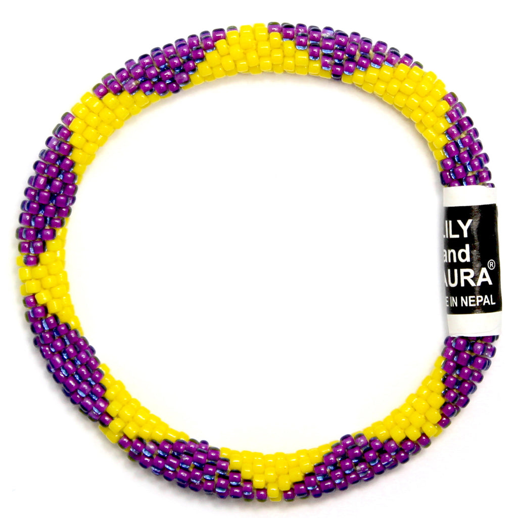 Purple and Yellow Big Diamonds