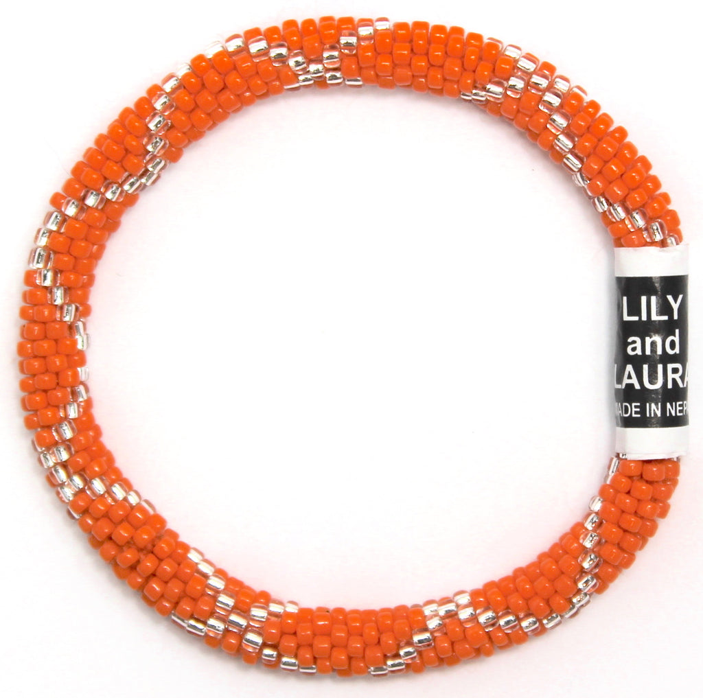 Orange and Silver Criss Cross
