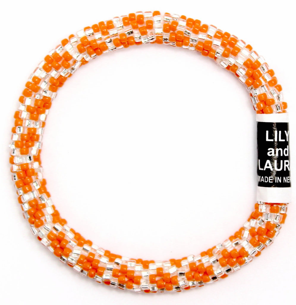 Silver Chain Link on Orange