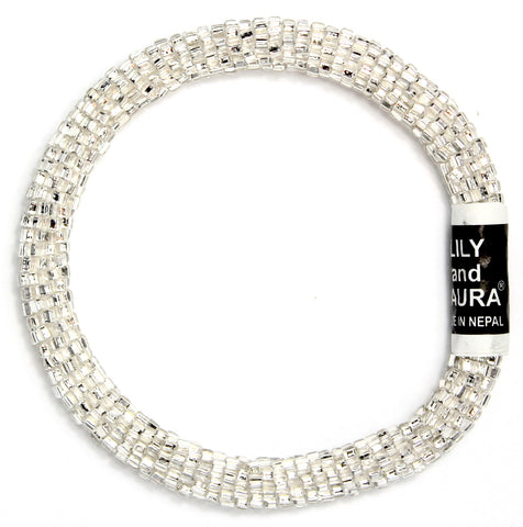 Lily and Laura Solid Crystal Silver