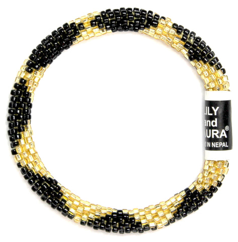 Lily and Laura Black and Gold Big Diamonds