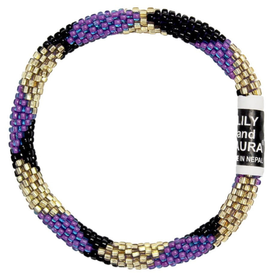 Gold, Purple and Black Big Diamond