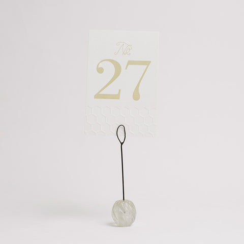 """find your seat tagged """"table number holders"""" - pressed cotton"""