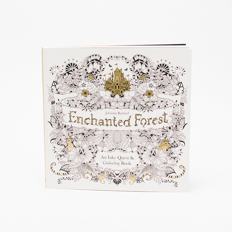 - Enchanted Forest Coloring Book - Pressed Cotton