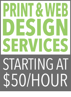 Print & Web design and development services starting at $50 per hour