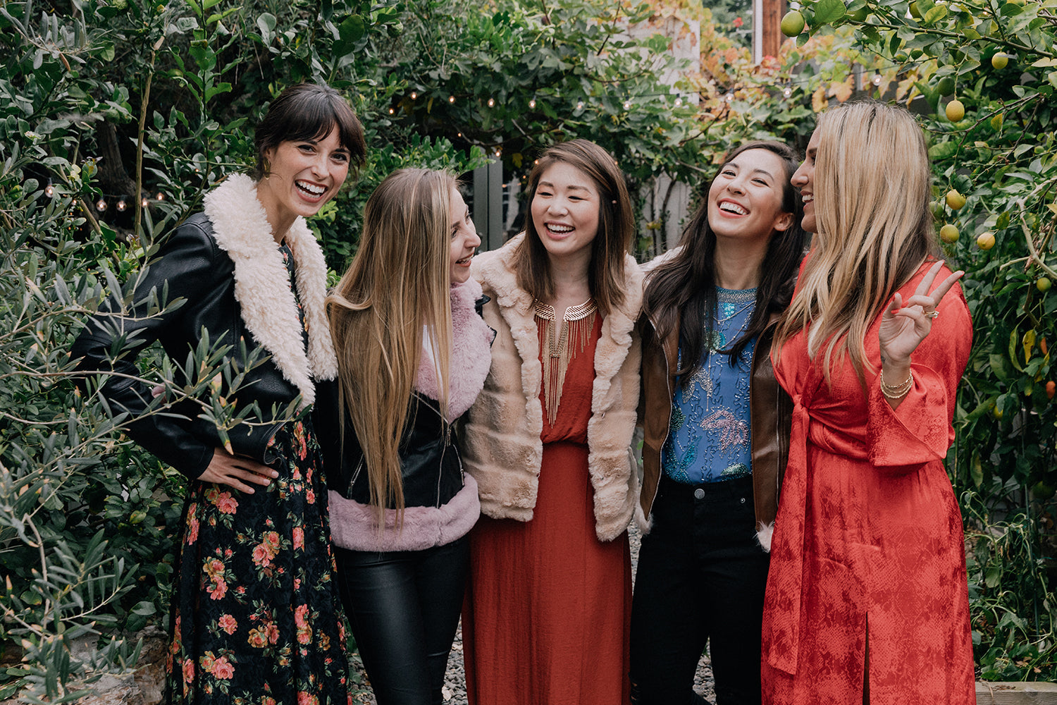 PETA x Coalition LA WWDMAGIC Vegan Thanksgiving Brunch Ashley Frohner (PETA Social Media Manager), Tori Alegria (Coalition LA Public Relations Manager),   Darci Wong (Coalition LA Creative Director), Christina Sewell (PETA Manager, Fashion Campaigns),   and Kelly Helfman (WWDMAGIC Vice President)