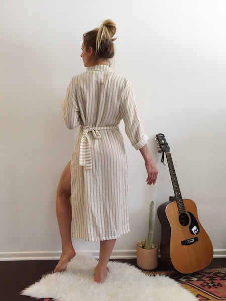 Sultana Beach Robe Sand Stripes