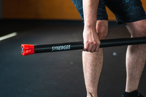 deadlift with synergee weighted bar