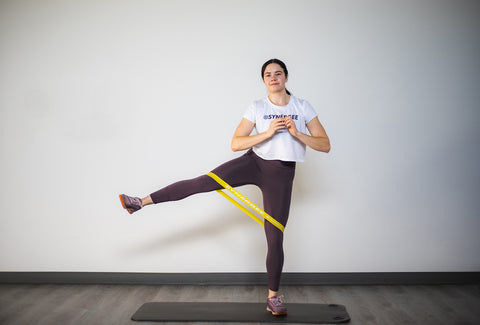 lateral leg lift with mini band