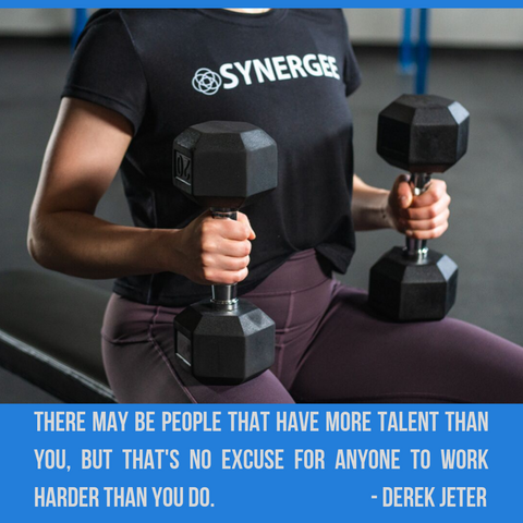 there may be people that have more talent than you but that's no excuse for anyone to work harder than you do