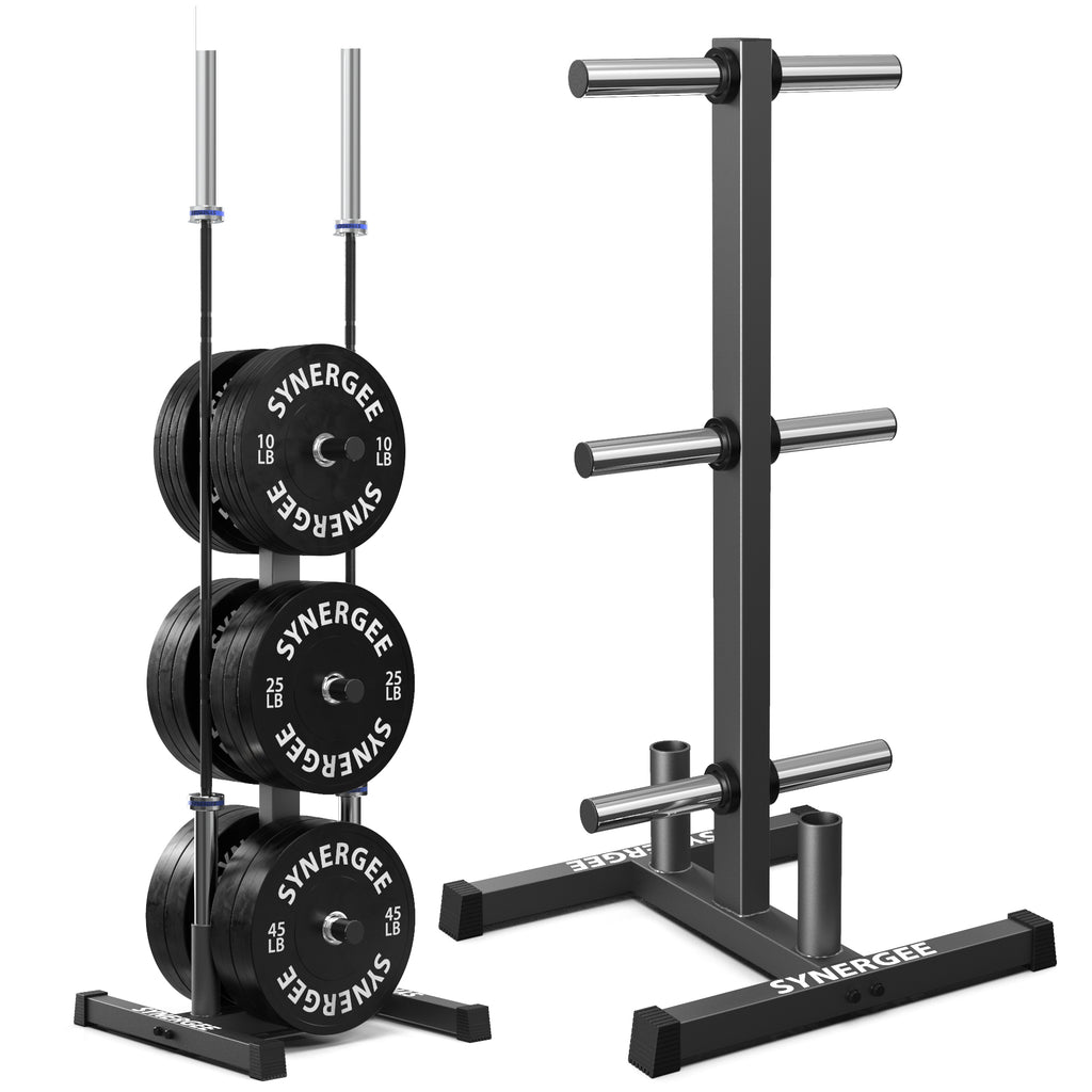 Synergee Olympic Weight Plate & Barbell Holder