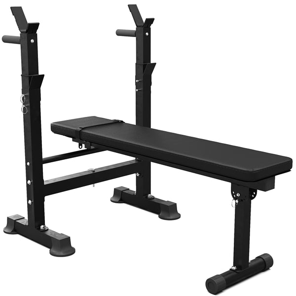 Synergee Adjustable Weight Bench with Barbell Rack