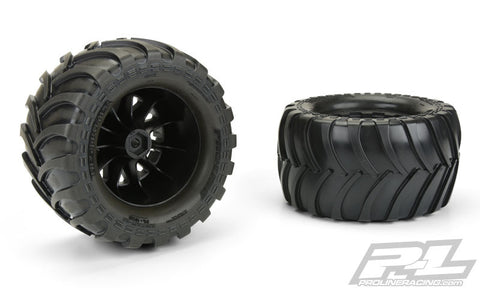 10129-14 Destroyer 2.8 All Terrain Tires Mnt Blk Wheel ETS Hobby Shop - chromewheelsimulators.com