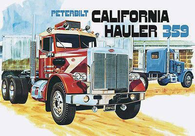 AMT 1/25 Peterbilt 359 California Hauler Conventional - chromewheelsimulators.com