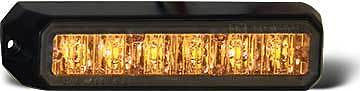 Strobe Light, 6 LED Amber, 10-24 VDC,8891500,  tow truck, rollback,wrecker - chromewheelsimulators.com