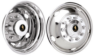 09 10 2011 Ford f450 f550 Wheel simulators liners 19.5 10 lug 2wd 4wd stainless - chromewheelsimulators.com
