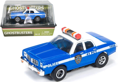 Dodge Monaco Police Car - Ghostbusters electric slot car racer - chromewheelsimulators.com