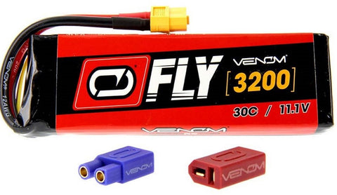 LiPo 3S 11.1V 3200mAh 30C Universal Plug 2.0 Fly, 25007 - chromewheelsimulators.com
