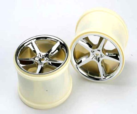 Traxxas Chrome Wheels Gemini 3.8 Mx/Revo - chromewheelsimulators.com