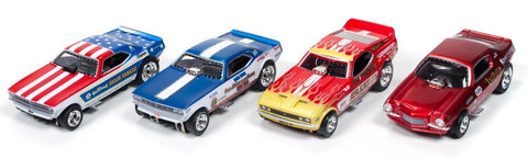 Auto World 4Gear Legends of the Quarter Mile slot car set - chromewheelsimulators.com