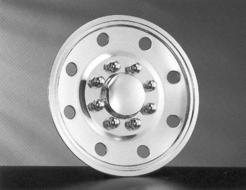 "16"" Single Wheel, Snap-On Design Simulator Set 8 Lugs, 8 Hand Holes RV 1982-Current - chromewheelsimulators.com"