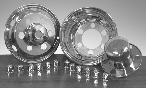 "16"" x 6"" Under Lug Design Simulator Set 6 Lugs, 6 Hand Holes Isuzu/Nissan/UD 1996-Curren - chromewheelsimulators.com"