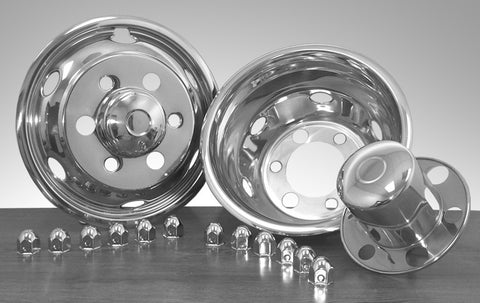 "19.5"" x 6"" Under Lug Design Simulator Set 6 Lugs, 6 Hand Holes Isuzu 1999-Current - chromewheelsimulators.com"