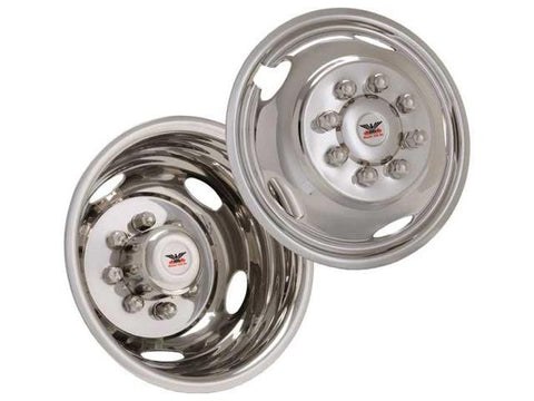 "Phoenix USA D.O.T. Mount Dual Wheel Simulators for 1999–2002 Ford F450/F550, Full Set for 19.5"" Wheels - chromewheelsimulators.com"