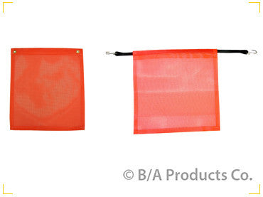 "*RED*18""x18""FLAG w/BUNGEE - chromewheelsimulators.com"