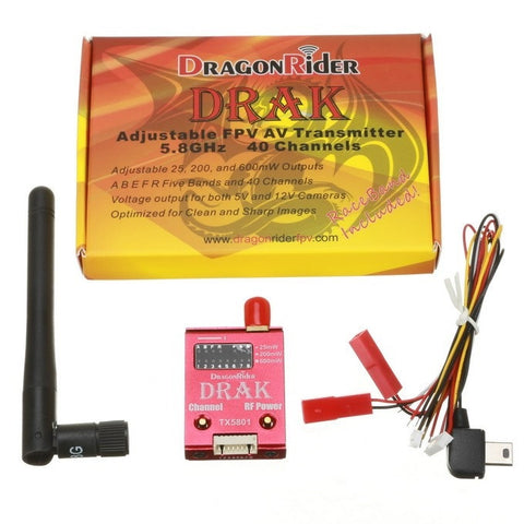 Dragon Rider DRAK 5.8G 40 Channel Adjustable FPV VideoTransmitter QuadCopter Ets Hobby Shop - chromewheelsimulators.com