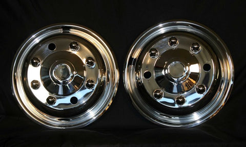 "19.5"" x 6.75"" Front Axle, 8 Lug 4 Hand Hole - chromewheelsimulators.com"