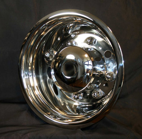 "19.5"" x 6.75"" Rear Axle, 8 Lug 4 Hand Hole - chromewheelsimulators.com"