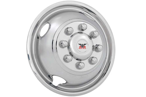 "Phoenix USA D.O.T. Mount Dual Wheel Simulators for 1992–2007 Ford E350, Full Set for 16"" Wheels - chromewheelsimulators.com"