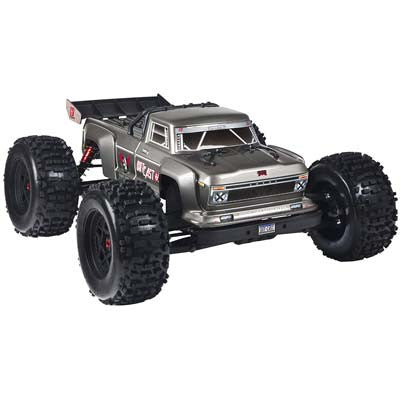 Outcast 6S Stunt Truck 1/8 4WD Dark Silver Ets Hobby Shop - chromewheelsimulators.com