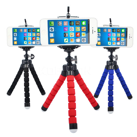 Flexible Holder Octopus Tripod Bracket Stand Mount Monopod Digital Camera for Gopro Hero 3 4  for iPhone 6 7 Huawei Phone s7 s8 - chromewheelsimulators.com