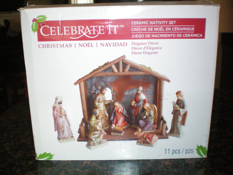 Celebrate It Ceramic Nativity Set