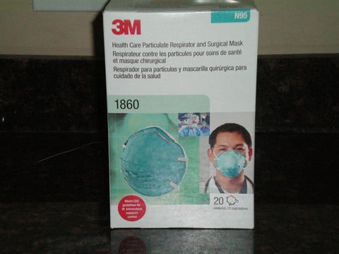 3M Health Care Particulate Respirator & Surgical Mask N95  5 boxes 20 per box