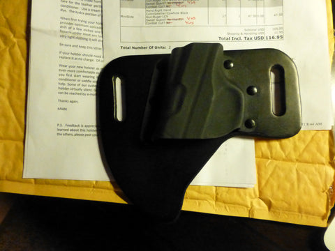 Cross Breed Holster Right Slide Ruger LC9 Cowhide Black Sweat Guard /Combat Black