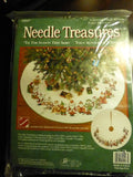 "Needle Treasures Tis The Season Tree Skirt Cross Stitch 40"" Round"