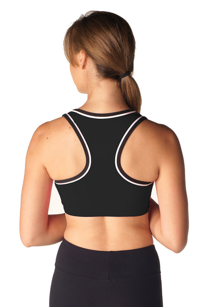 Women's Two-Tone Racer Back Bra Top - Intouch Clothing - 2