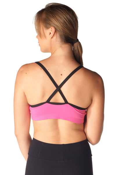 Scoop Neck Criss Cross Sports Bra - Intouch Clothing - 6