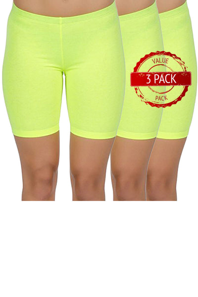 3 Pack of Cotton Spandex Bike Shorts