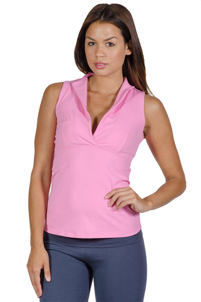 Rose Sleeveless V-Neck Top