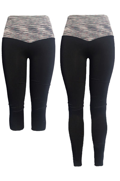 2 Pack of The Infinite Stretch Tummy Control Yoga Leggings & Capris